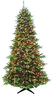 7.5 Ft Jackson Artificial Prelit Christmas Tree with Clear LED Lights