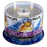 51YQAWEY33L. SL160  Philips USA 16x Write Once DVD R   50 Disc Spindle
