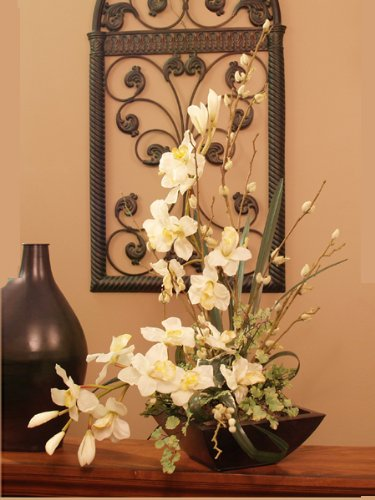 Cymbidium Soft Silk Orchid Arrangement #O114-72