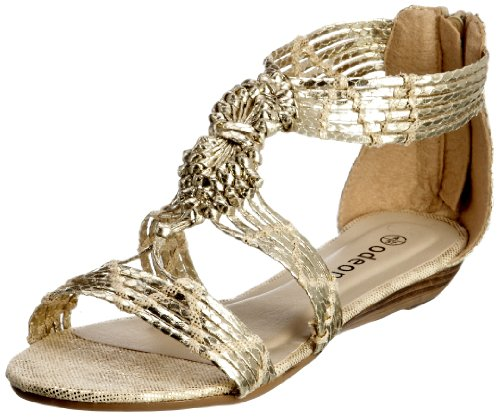 Odeon Women's Courtney Pale Gold Thong Sandals