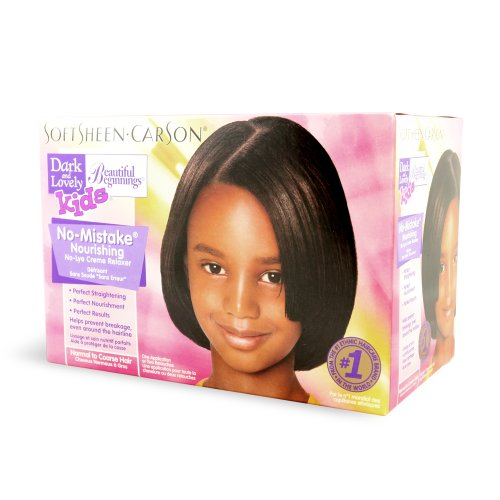 Dark and Lovely Beautiful Beginnings Kids No-Mistake Nourishing No-Lye Creme Relaxer, Normal to Coarse Hair