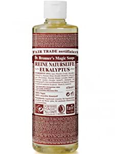 dr bronner 39 s fair trade organic castile liquid soap eucalyptus 16 0z size. Black Bedroom Furniture Sets. Home Design Ideas