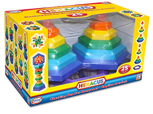 Popular Playthings Hexacus Stacking Game (25-Piece)