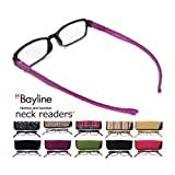 ベイライン ネックリーダーズ Bayline neck readers PC機能付き リーディンググラス(老眼鏡) +1.50 イエロー(ヒョウ柄)ケース/クロ