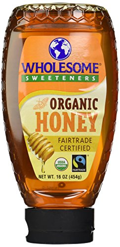 Wholesome Sweeteners Organic Fair Trade Honey, 16 Ounce Bottle