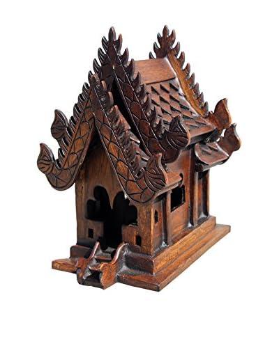 Asian Art Imports Teak Spirit House, Brown