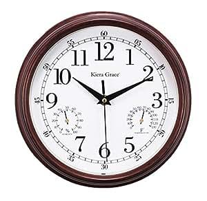 kiera grace metz indoor outdoor wall clock