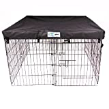 4' x 4' GoGo Exercise Pen UV Top / Cover Black