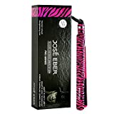 Jose Eber 1 Inch Hot Pink Zebra Print Flat Iron Hair Straightener Dual Voltage