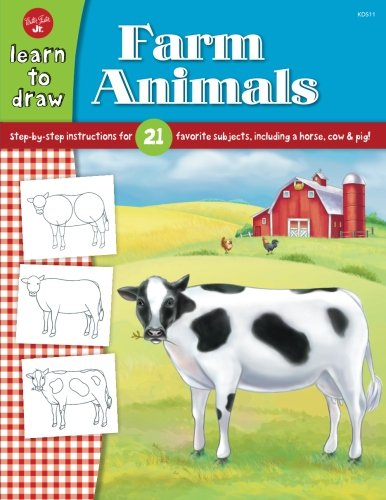 Learn to Draw Farm Animals: Step-by-step instructions for 21 favorite subjects, including a horse, cow & pig! (Walter Foster Learn To Draw compare prices)