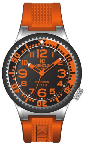 Kienzle - 720/3083 - Montre Homme - Quartz Analogique - Bracelet Silicone Orange