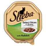 Sheba Tray Select Slices in Gravy with Rabbit 100g x 16