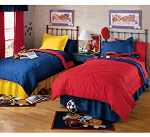 Amazon Com Primary Twin Reversible Comforter 54 Quot X 86