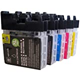 5 CiberDirect High Capacity Compatible Ink Cartridges for use with Brother MFC-J615W Printers.