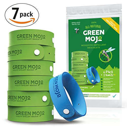 green-mojo-100-natural-mosquito-repellent-bracelet-six-6-pack-1-bonus-perfect-outdoor-insect-repelle