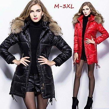 EIK DONNE - Giacche e cappotti - Informale Supporto - Maniche lunghe Pelle / Poliestere , red , xxxl