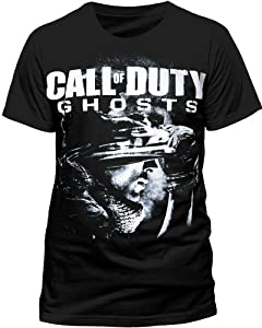 call of duty TS18MACDH-XL - CALL OF DUTY Ghosts Men's Soldier Logo Extra Large T-Shirt, Black (TS18MACDH-XL)