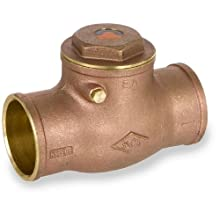 Smith-Cooper International 9192L Series Brass Swing Check Valve, Potable Water Service, Solder End