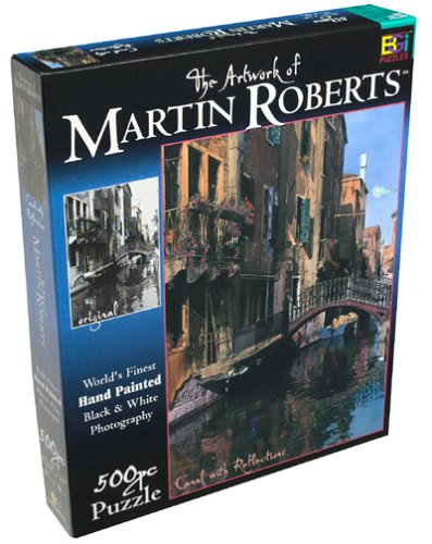 500 Piece Canal with Reflections Puzzle Based on the Artwork of Martin Roberts - 1