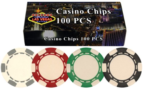 Best Buy! 100 11.5 gram Poker Chips in Welcome to Las Vegas Gift Box; Choose from Several Designs