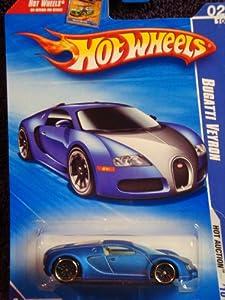 hot wheels 2010 160 blue bugatti veyron hot auction 1. Black Bedroom Furniture Sets. Home Design Ideas