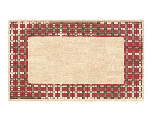 The Rug Market Vogue Border Tan/Red Area Rug  Size 5.3'x8.3'