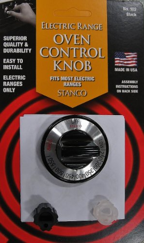 Get Stanco Universal Electric Oven Control Knob, Black cheapest