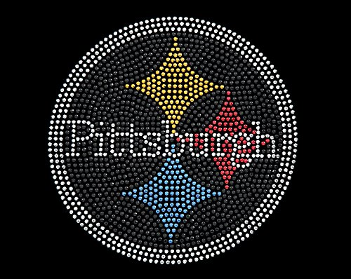 "Hand Made Rhinestone ""Pittsburgh Three Star"" Transfer Paper at Steeler Mania"
