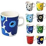 (マリメッコ)marimekko 63431 UNIKKO ウニッコ マグカップ 250ml 選べる8色 017 (ホワイト×ブルー) [並行輸入品]