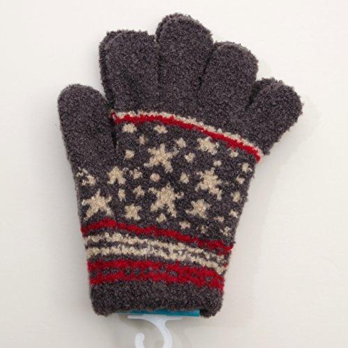 日本製 のびのび五指手袋 15cm 星 (1610-1786) (グレー)