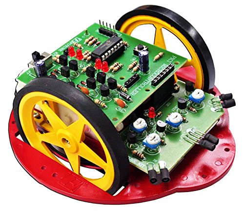 PIC1 Obstacle Avoiding Robot 3 Sensor Electronic Circuit Kit : FA1111 (Obstacle Avoiding Robot compare prices)