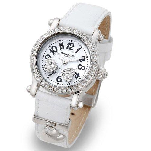 Alessandra Olla (アレサンドラオーラ) 腕時計 ムービングハート AO-4100-1-WH レディース