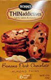 Nonnis Thin Addictives: Banana Dark Chocolate Almond Thins (Pack of 3) 4.4 oz Boxes