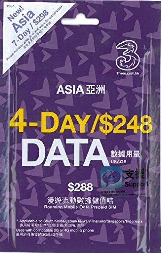 アジア周遊 3G・4G 高速データ通信放題 プリペイド SIMカード!音声通話付!