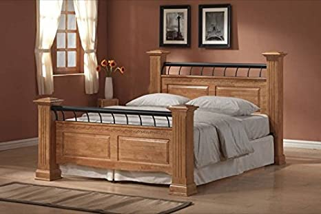 Ideal Furniture Rolo Double Bed, Oak