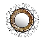 "Saaga Mirror Frame With Mirror (15""x6"",Brown & Black)"