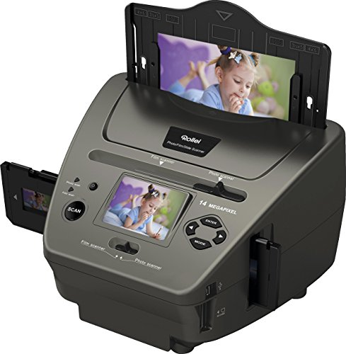 Rollei PDF-S 340 - Multi Scanner per Diapositive, Negativi e Foto - 14 Megapixel - Nero