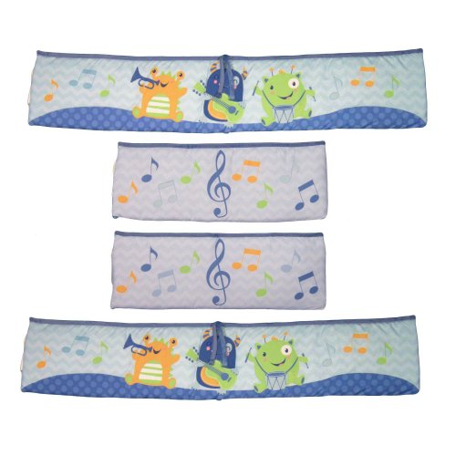 Baby's First by Nemcor Monsters Party Crib Bumper Set - 1