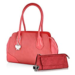 Butterflies Women's Handbag (Red) (BNS WB0143)