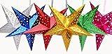 クリスマス 立体 ペーパー オーナメント 星 型 30cm 天井 飾り (A(ミックス6個))
