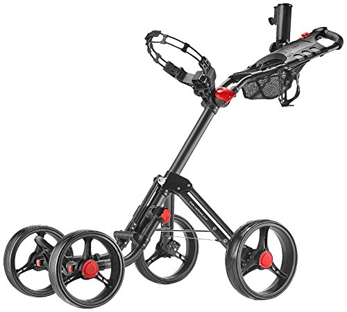 CaddyTek Superlite Explorer 4 Wheel Golf Push Cart, Dark Grey (Push Pull Golf Cart compare prices)