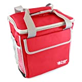 Fridge-to-go Super Compact 24-Can Roller Fridge Portable Cooling Tote, Red