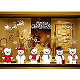 サンタクロース 雪だまる 雪の結晶 クリスマス飾り クリスマス用 ショーウインドー 飾り 窓ステッカー グラスシート 水接着タイプ ウィンドウフィルム