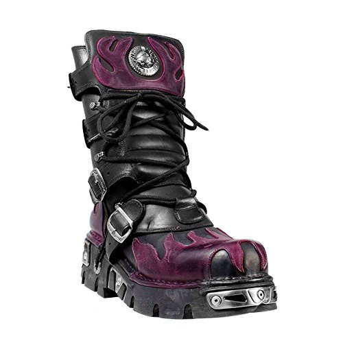 Stivali New Rock Stile 591 (Nero/Viola) - 43