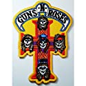 Guns N Roses patches 8x11.5 cm Rock Music Band Patches Embroidered iron/sew on Patch to Cloth, Jacket, Jean, Cap, T-shirt and Etc.