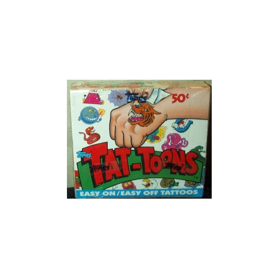 Tat Toons Easy On Easy Off Tattoos Trading Cards Box  36