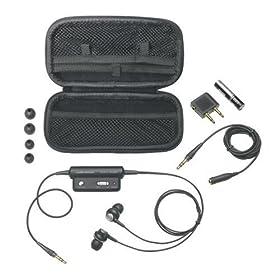 Audio Technica Noise-Canceling In-Ear Headphones - Black (ATH-ANC3)