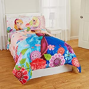 Disney Twin/full Comforter Floral Breeze(reversible)