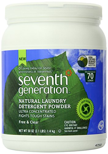Seventh Generation  Natural Laundry Detergent Powder, Free and Clear, 50 Ounce