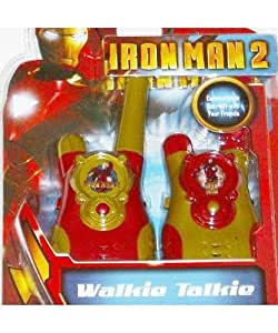 Marvel Iron Man 2 Walkie Talkies Set Ironman Super Hero Communicators